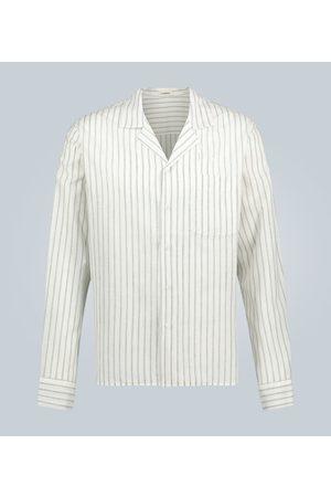 Commas Kobieta Z długim rękawem - Linen striped long-sleeved shirt