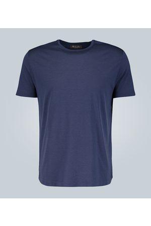 Loro Piana Kobieta Z krótkim rękawem - Silk-cotton blend T-shirt