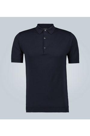 JOHN SMEDLEY Kobieta Koszulki polo - Adrian Sea Island cotton polo shirt