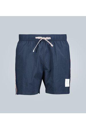 Thom Browne Kobieta Kąpielówki - Grosgrain-trimmed swim shorts