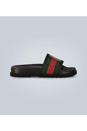 Gucci Kobieta Sandały - Striped Web slide sandals
