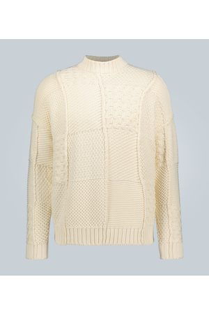 J.W.Anderson Kobieta Swetry i Pulowery - Cotton patchwork knitted sweater