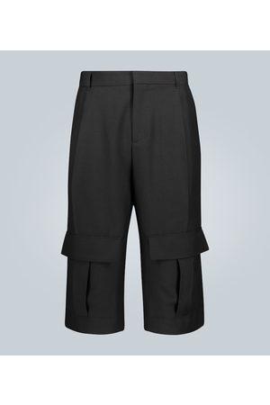 Loewe Kobieta Bojówki - Wool cargo shorts