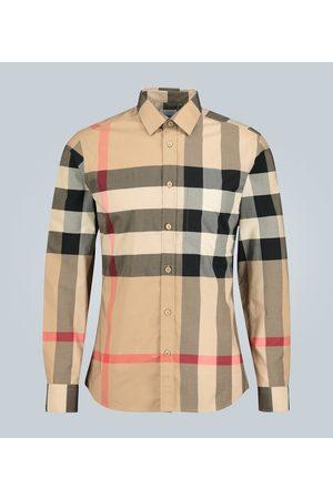 Burberry Kobieta Z długim rękawem - Check stretch-cotton shirt