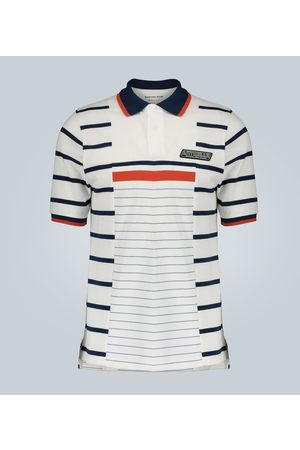 MARTINE ROSE Striped print polo shirt