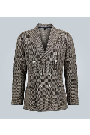 LARDINI Knitted cotton-linen blazer