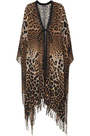 Saint Laurent Leopard-print silk kaftan