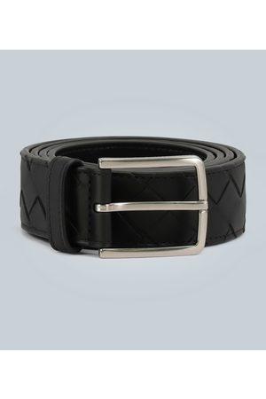 Bottega Veneta Leather belt with intreccio weave motif