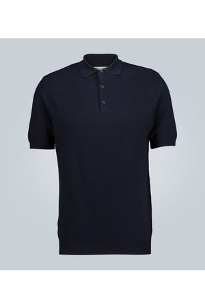 Sunspel Knitted cotton polo shirt