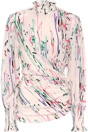 Isabel Marant Fantine printed stretch-silk blouse