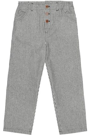 Caramel Carnaby striped cotton pants