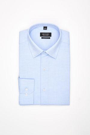 Recman Koszula corsini 3012 długi rękaw custom fit błękit