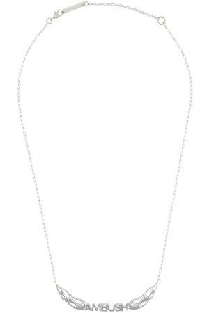AMBUSH Mężczyzna Naszyjniki - Sterling flames logo necklace