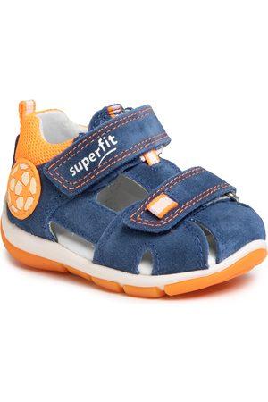 Superfit Chłopiec Sandały - Sandały - 6-09142-80 M Blau/Orange