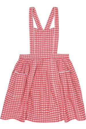 Caramel Donnington checked pinafore dress
