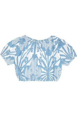 Caramel Dziewczynka Bluzki - Queen's Park cropped cotton blouse