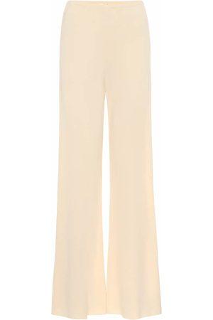 The Row Kobieta Spodnie z szeroką nogawką - Gala crêpe wide-leg pants