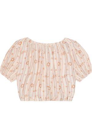 Caramel Queens Park linen blouse