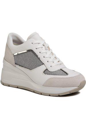 Geox Sneakersy - D Zosma A D028LA 0AS85 C1303 Lt Grey/White
