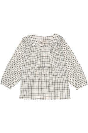 Caramel Victoria checked cotton shirt
