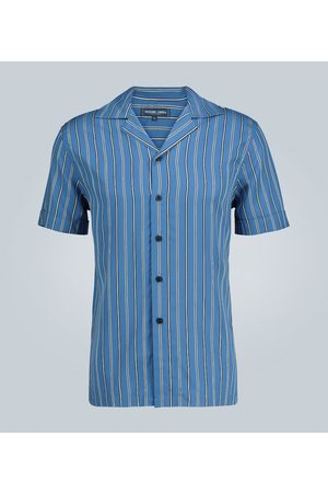 Frescobol Carioca Tencel striped short-sleeved shirt