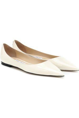 Jimmy Choo Kobieta Baleriny - Love patent leather ballet flats