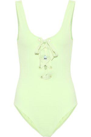 Ganni Lace-up swimsuit