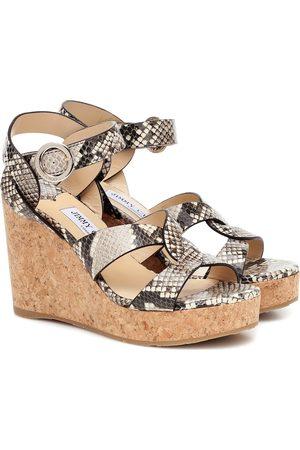 Jimmy Choo Kobieta Sandały - Aleili 100 leather wedge sandals