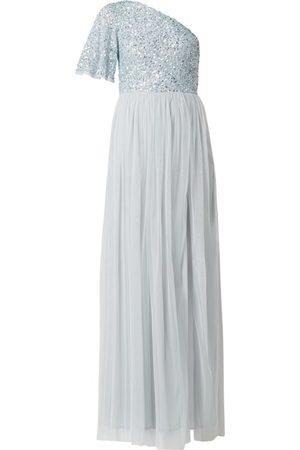 MAYA DELUXE Sukienka wieczorowa z siateczki z odkrytymi ramionami