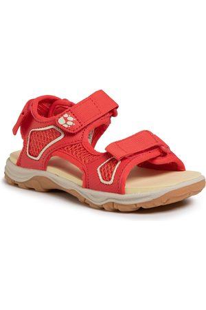 Jack Wolfskin Sandały - Taraco Beach Sandal K 4039531 S Red/Champagne