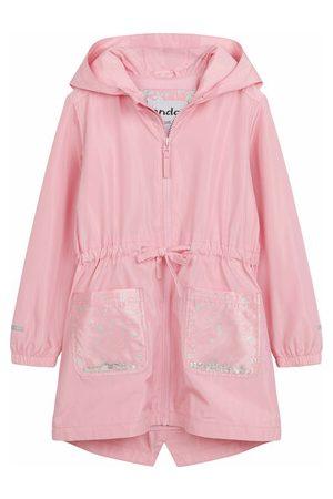 Endo Wiosenna kurtka parka, z cekinami w kieszeniach, różowa, 2-8 lat