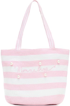 MONNALISA Embellished striped tote