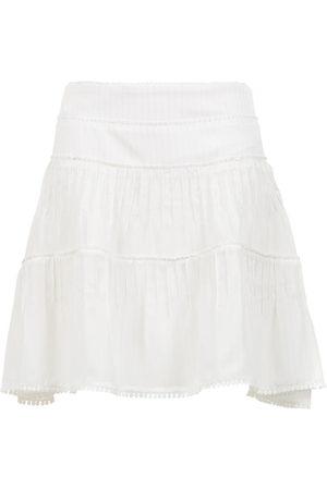 Olympiah Kobieta Spódnice trapezowe - White