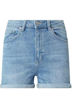 Review Szorty jeansowe z wysokim stanem z dodatkiem streczu