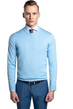 Recman Mężczyzna Golfy - Sweter moulin półgolf błękit