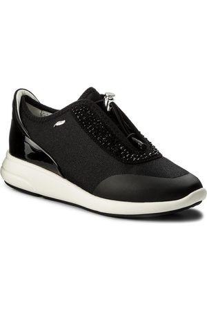 Geox Kobieta Sneakersy - Sneakersy - D Ophira E D621CE 01402 C0595 Black/Black