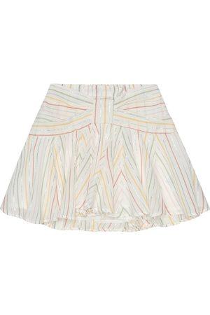 BONPOINT Noeud striped cotton skirt
