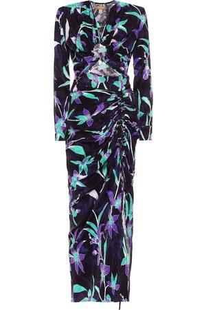 Matériel Tbilisi Floral-jacquard cutout midi dress