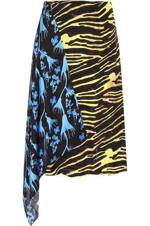 Marine Serre Printed midi skirt