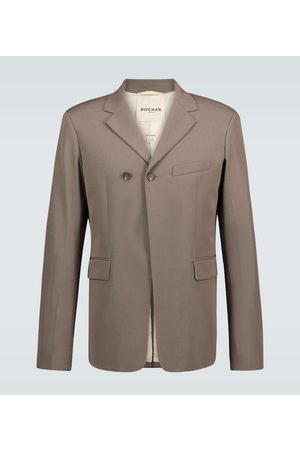 Rochas Marynarki i Żakiety - Qualls wool and cotton-blend blazer