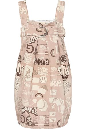 Ganni Printed cotton dress