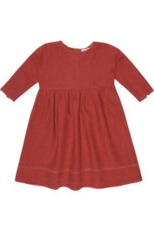 Caramel Wimbledon linen dress