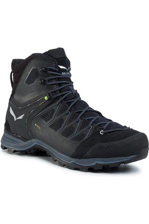 Salewa Mężczyzna Buty trekkingowe - Trekkingi - Ms Mnt Trainer Lite Mid Gtx GORE-TEX 61359-0971 Black/Black