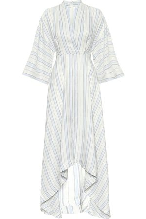 CO Striped asymmetric maxi dress