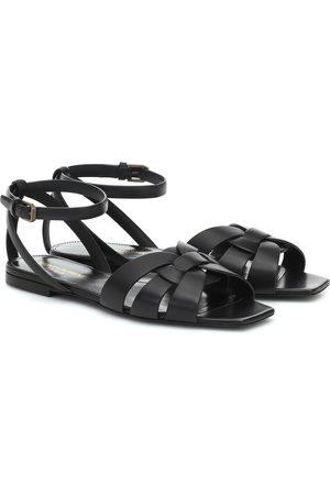 Saint Laurent Tribute leather sandals