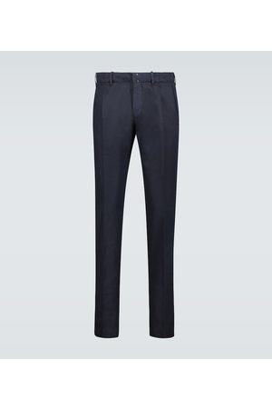 Incotex Cotton linen-blend slim-fit pants