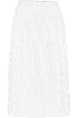 Khaite Sylvia high-rise cotton-twill skirt