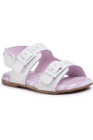 BIBI Niemowlę Sandały - Sandały - Baby Birk Mini 1088054 White/Hortencia