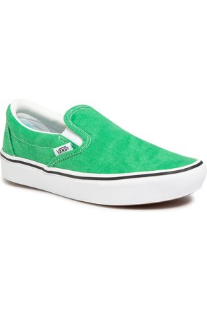 Vans Tenisówki - Comfycush Slip-On VN0A3WMDWYC1 (Washed Canvas)Fern Green
