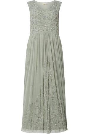 Lace & Beads Kobieta Sukienki koktajlowe i wieczorowe - Sukienka wieczorowa PLUS SIZE z ozdobnymi perełkami model 'Shanti'